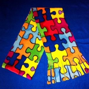 Autism Awareness Fleece Scarf